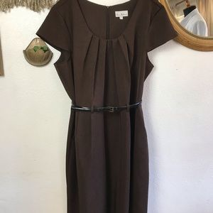 Brown Plus Size Office Dress Size 22WP